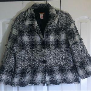 Classic Ruby Rd black&white Blazer Jacket